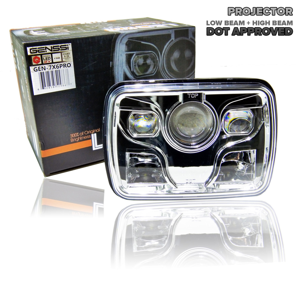 7x6 Led Projector Headlight Sealed Beam Replacement Dot