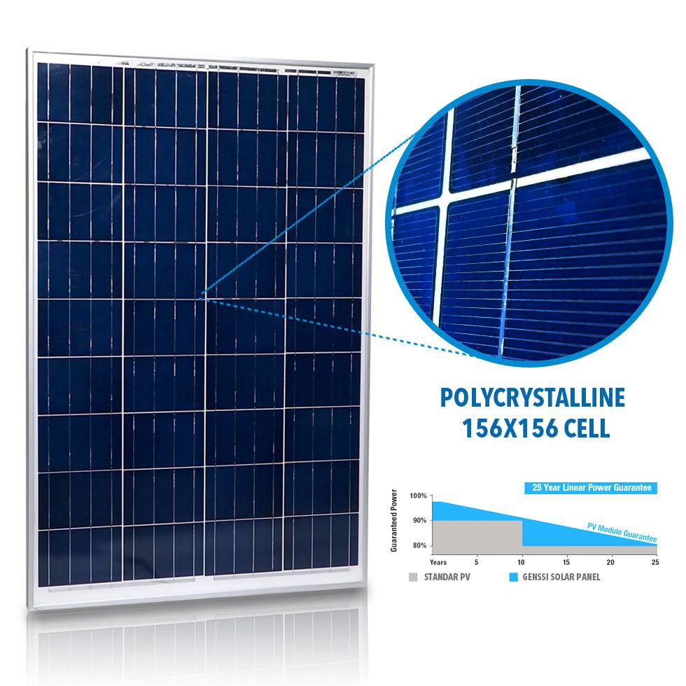 Genssi 300w Watt Solar Panel Kit 3 Pcs 100w 12v Rv Boat