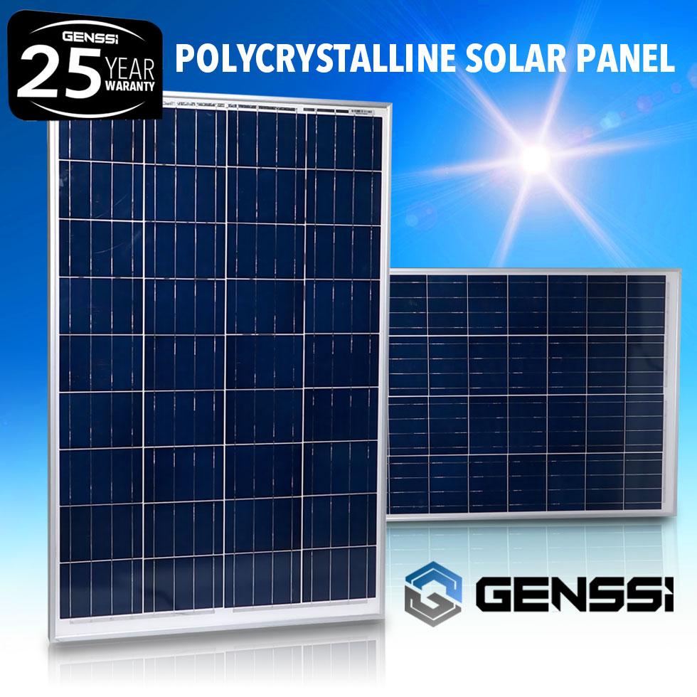 genssi 300w watt solar panel kit 3 pcs 100w 12v rv boat. Black Bedroom Furniture Sets. Home Design Ideas